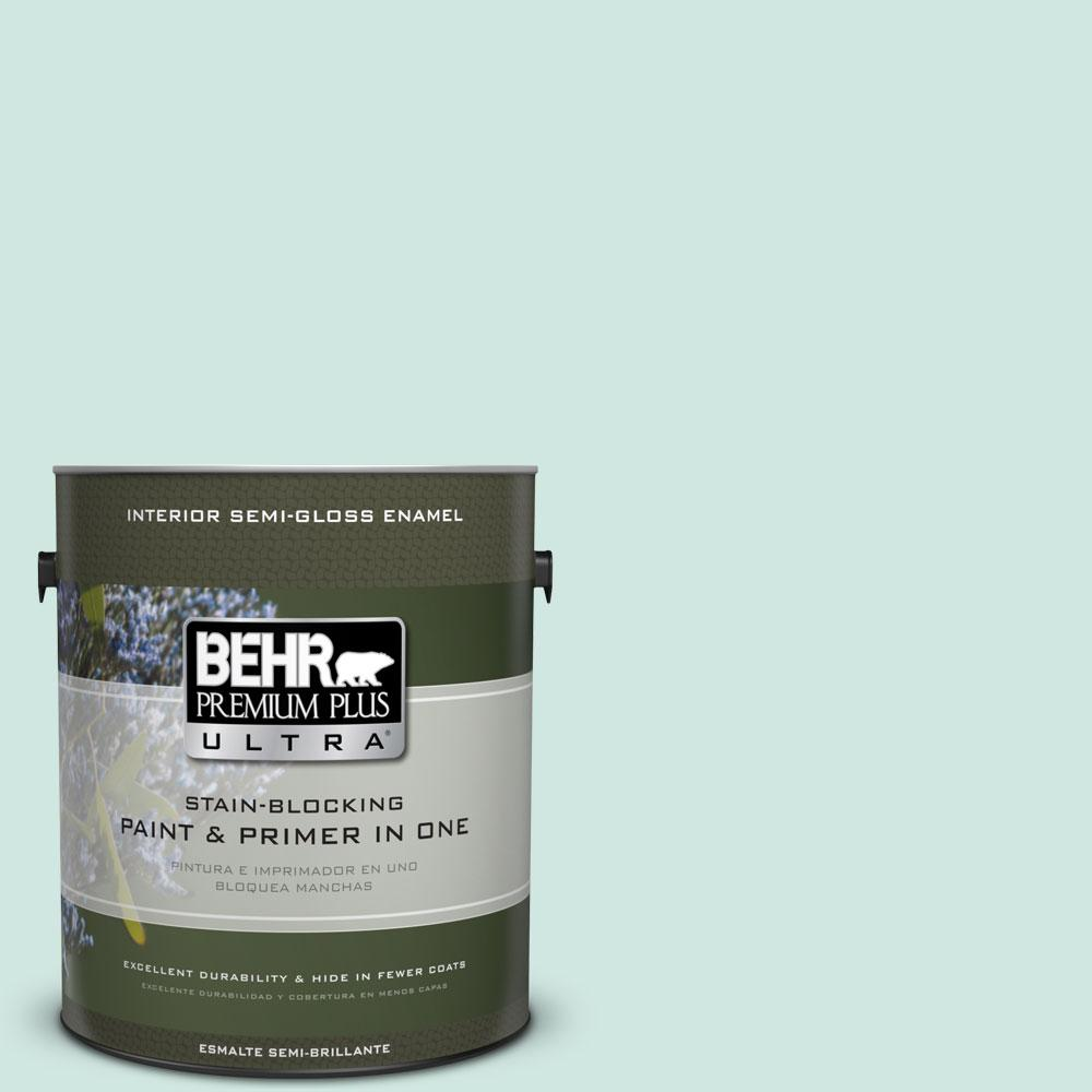 1 gal. #HDC-CT-26A Seaglass Semi-Gloss Enamel Interior Paint