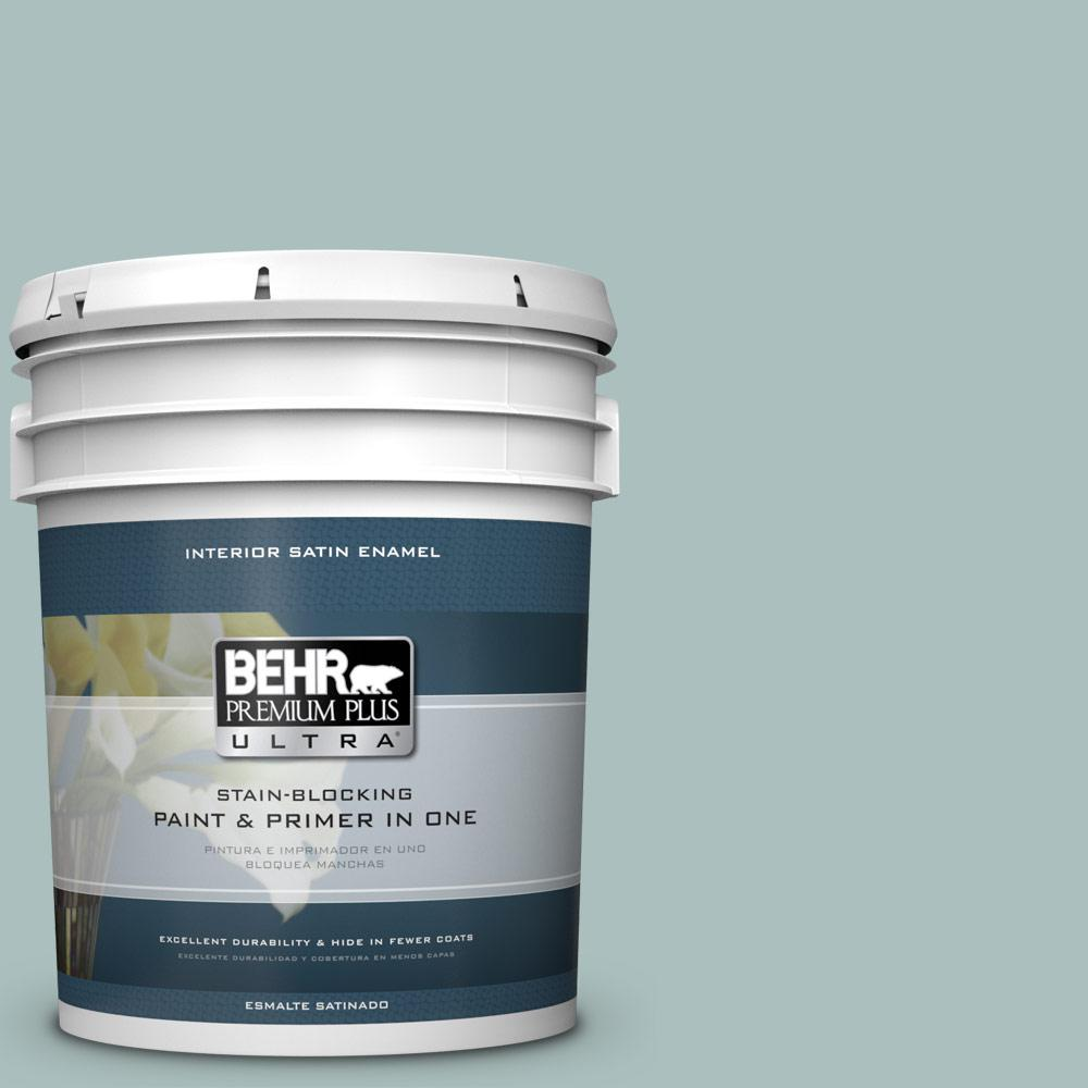 5 gal. #HDC-CL-15G Morning Parlor Satin Enamel Interior Paint