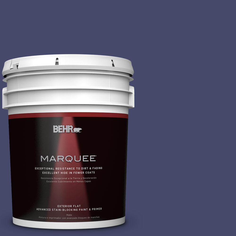 5-gal. #PPU15-1 Nobility Blue Flat Exterior Paint