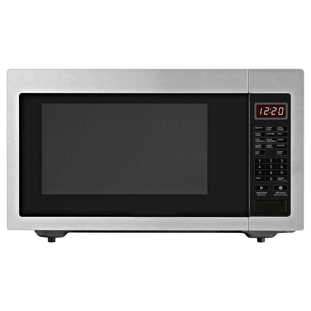 Whirlpool 1.6 cu. ft. Countertop Microwave in Stainless Steel, Built-In Capable with Sensor Cooking
