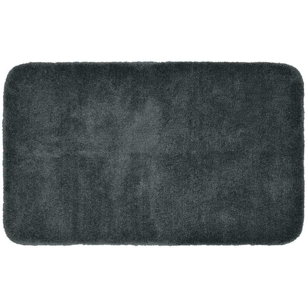 Finest Luxury Dark Gray 30 in. x 50 in. Washable Bathroom