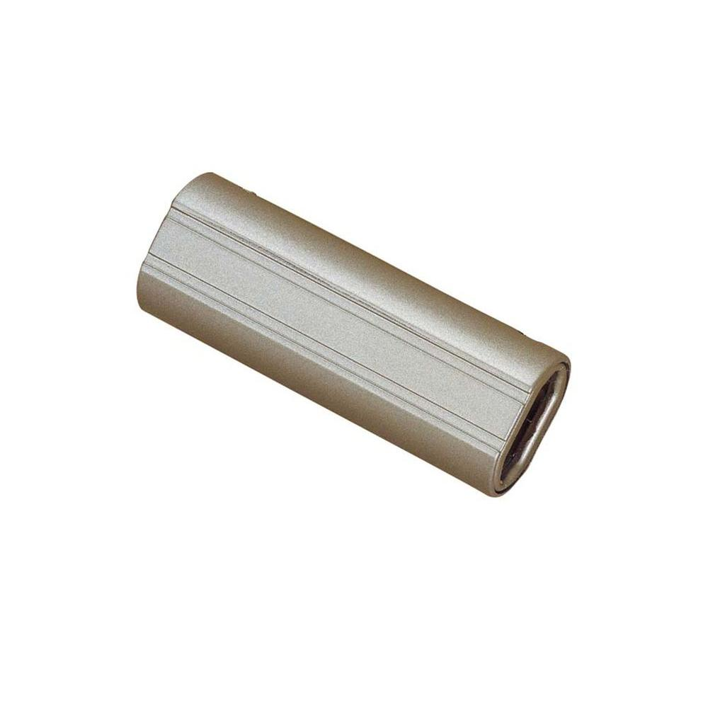 Brushed Steel Straight Connector for Flexible Track Lighting
