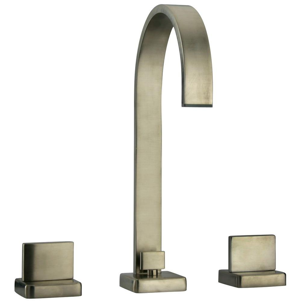 LaToscana Novello 8 in. Widespread 2-Handle High-Arc Bathroom Faucet in Brushed Nickel