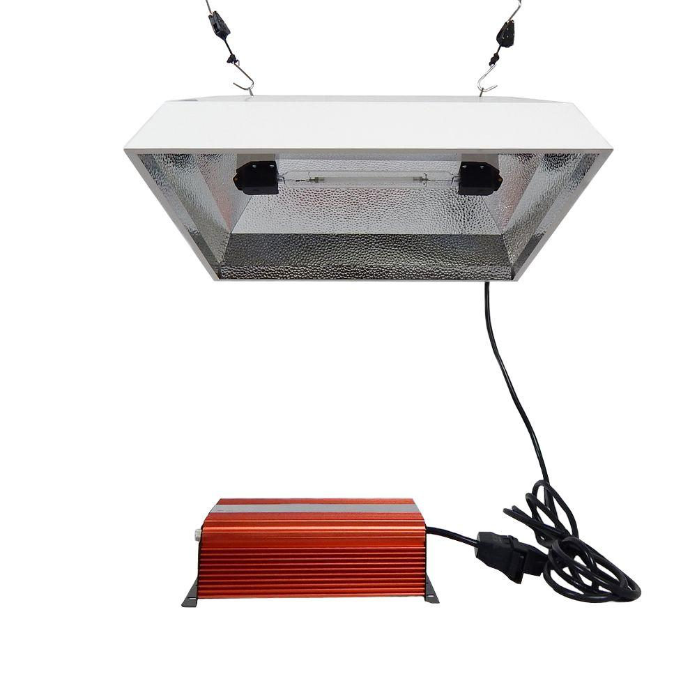 ViaVolt 1000-Watt Double Ended Electronic HPS 120/240 Square Reflector Remote