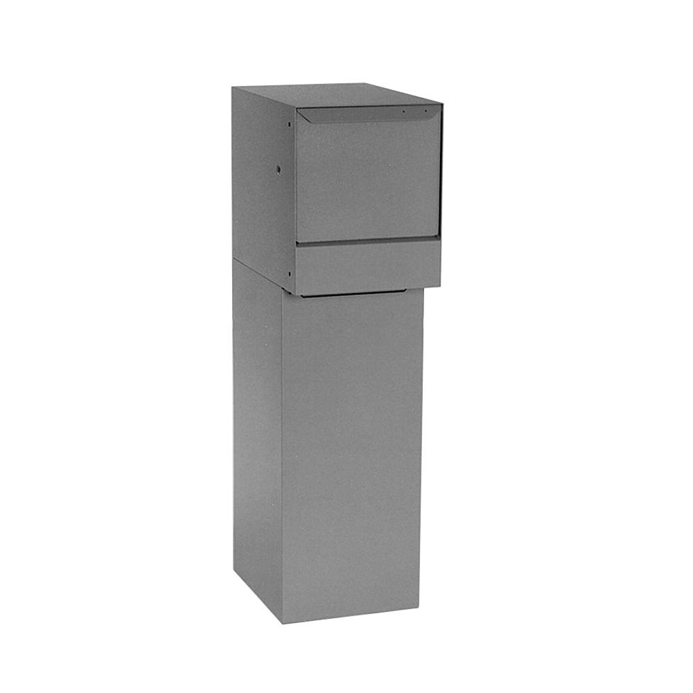 Gray Wall-Mount Delivery Top Vault Mailboxes