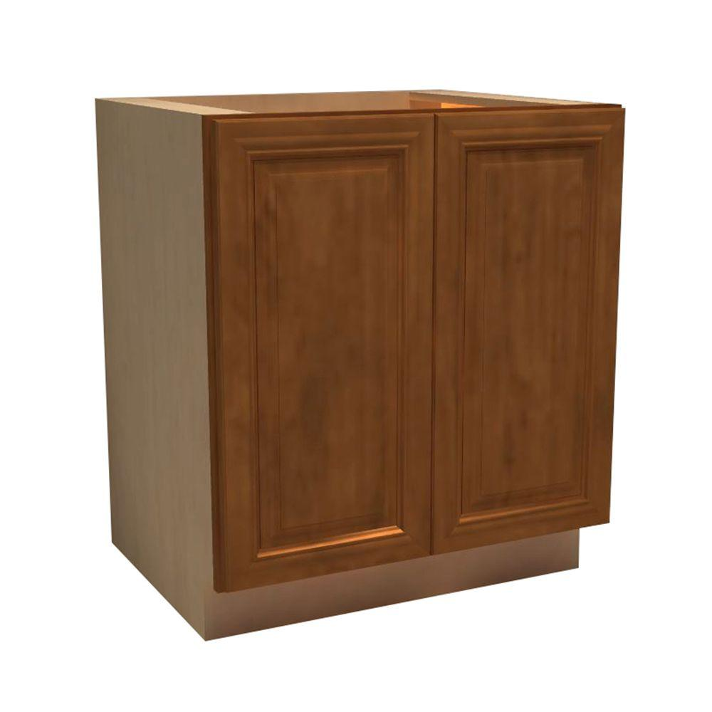 Clevedon Assembled 30x34.5x24 in. Double Door Base Kitchen Cabinet in Toffee