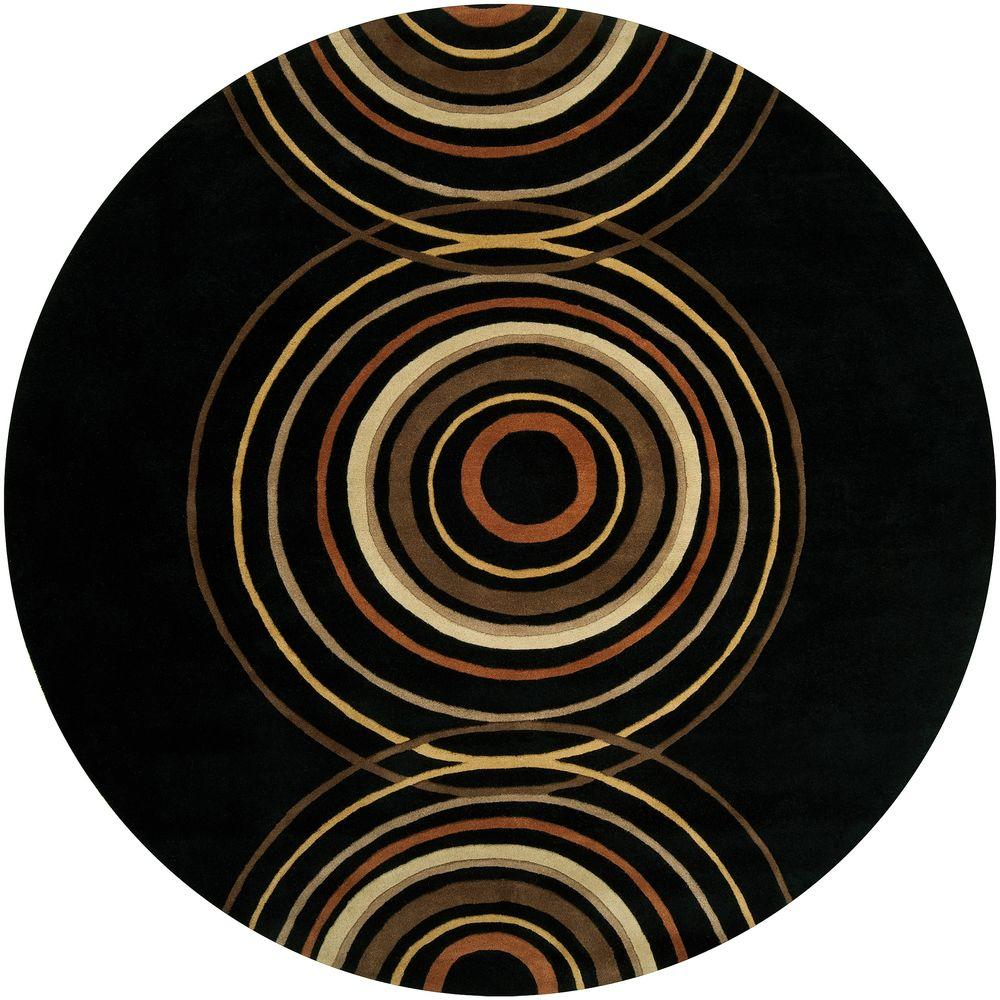Artistic Weavers Michael Black 9 ft. 9 in. Round Area Rug