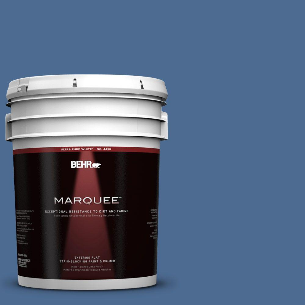 BEHR MARQUEE 5-gal. #590D-6 Wickford Bay Flat Exterior Paint-445305 - The
