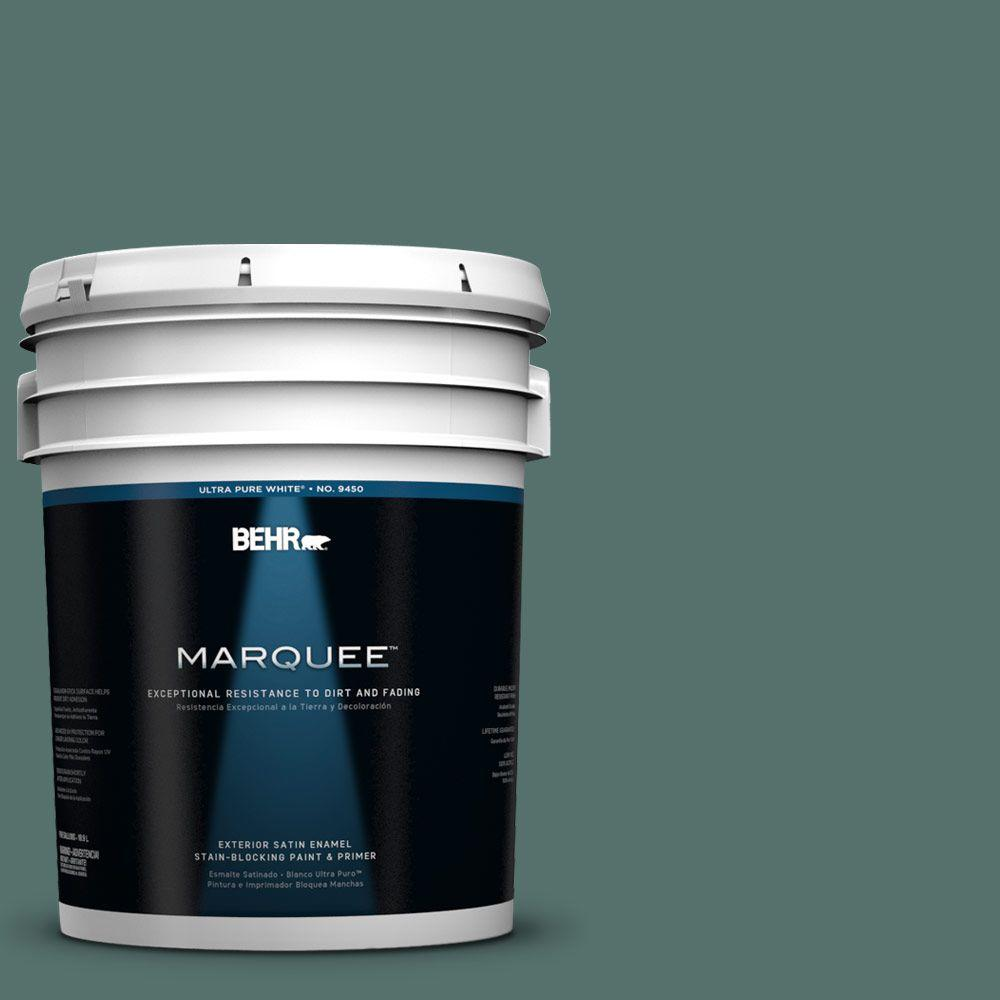 BEHR MARQUEE 5-gal. #480F-6 Shaded Spruce Satin Enamel Exterior Paint