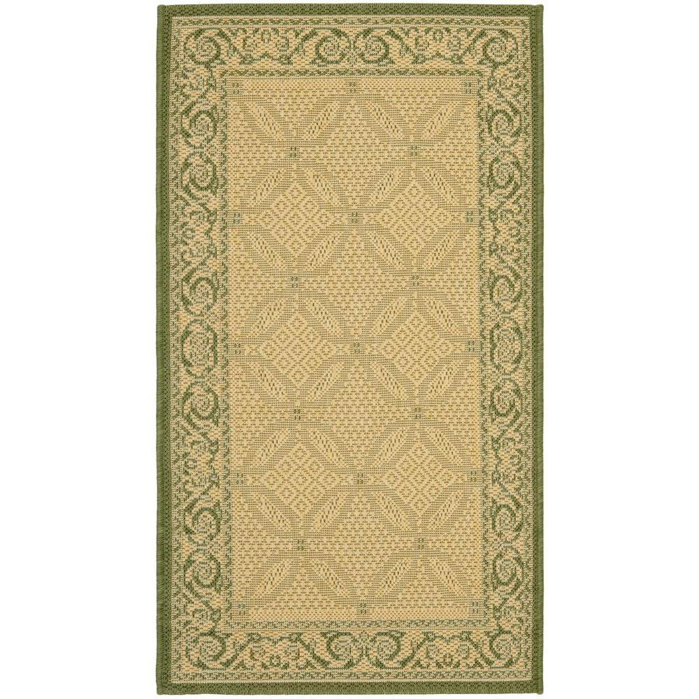Courtyard Natural/Olive (Natural/Green) 2 ft. 7 in. x 5 ft. Indoor/Outdoor Area Rug Sale $28.35 SKU: 204829243 ID: CY1502-1E01-3 UPC: 683726280521 :