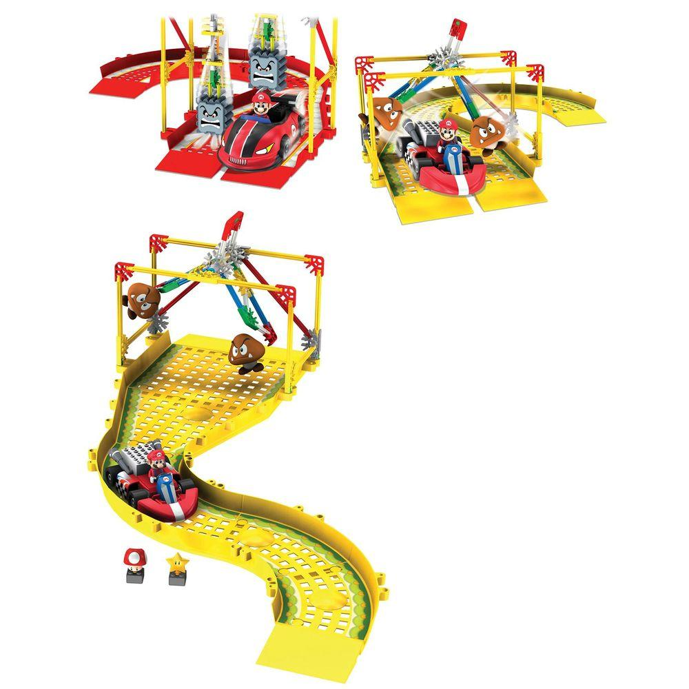 K'NEX Mario Kart Wii Mario Vs Thwomps and Goombas plus Track Expansion Play Set