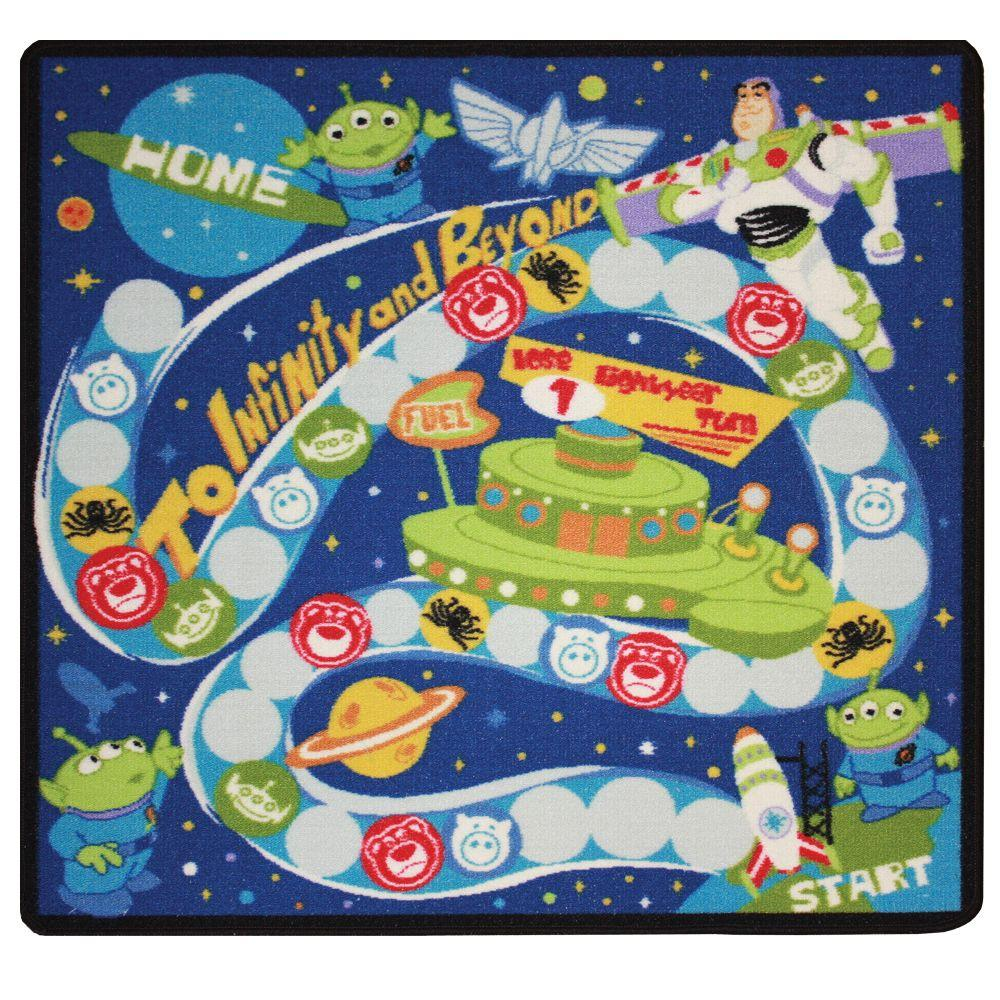 G.A. Gertmenian & Sons Toy Story Buzz Space Adventure 3 ft. 4 in. x 3 ft. 4 in. Game Mat and Activity Rug Set-DISCONTINUED
