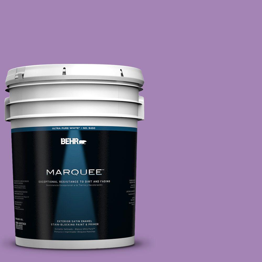 BEHR MARQUEE 5-gal. #660B-6 Daylight Lilac Satin Enamel Exterior Paint-945305 -