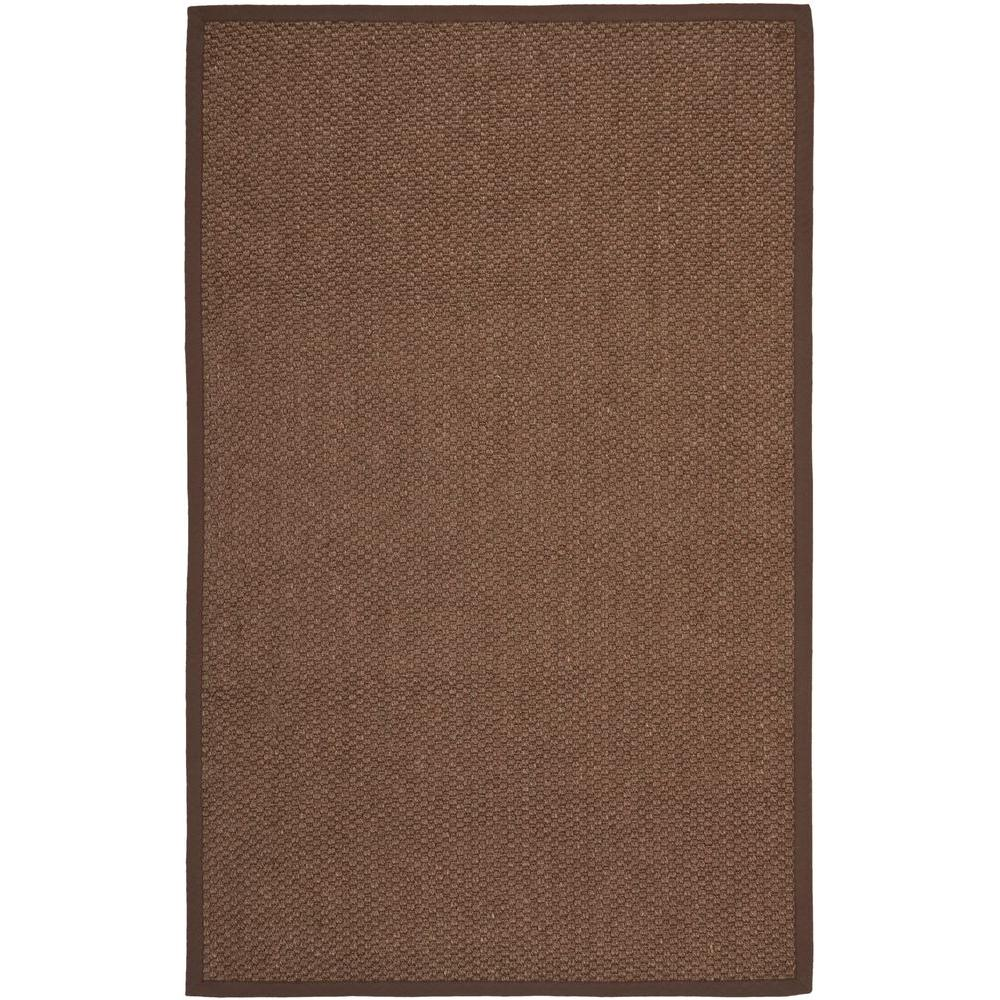 Natural Fiber Chocolate 9 ft. x 12 ft. Area Rug