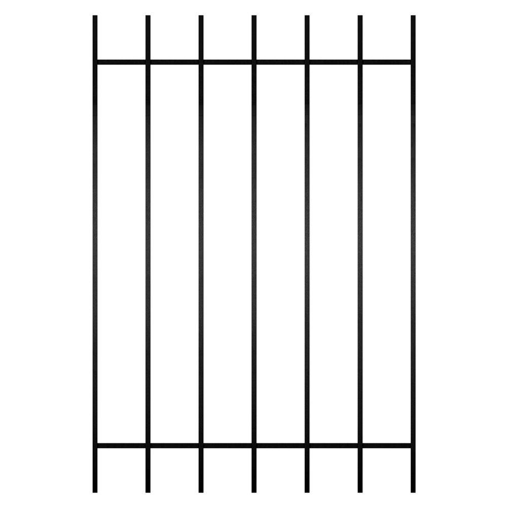 Unique Home Designs Guardian 36 in. x 54 in. Black 7-Bar Window Guard-DISCONTINUED