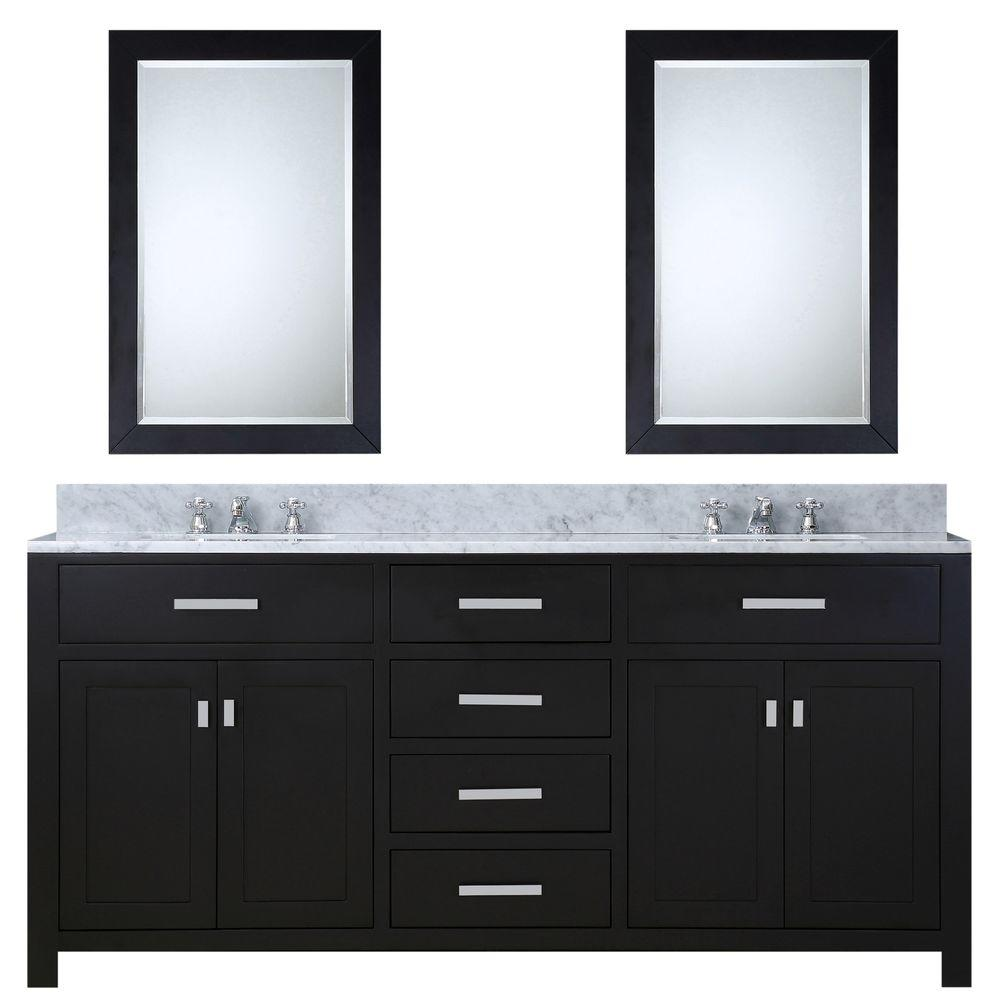 72 in. W x 21 in. D Vanity in Espresso with