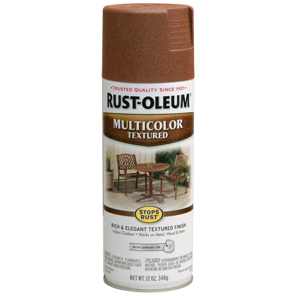 12 oz. Multi-Colored Textured Rustic Umber Protective Enamel Spray Paint (Case