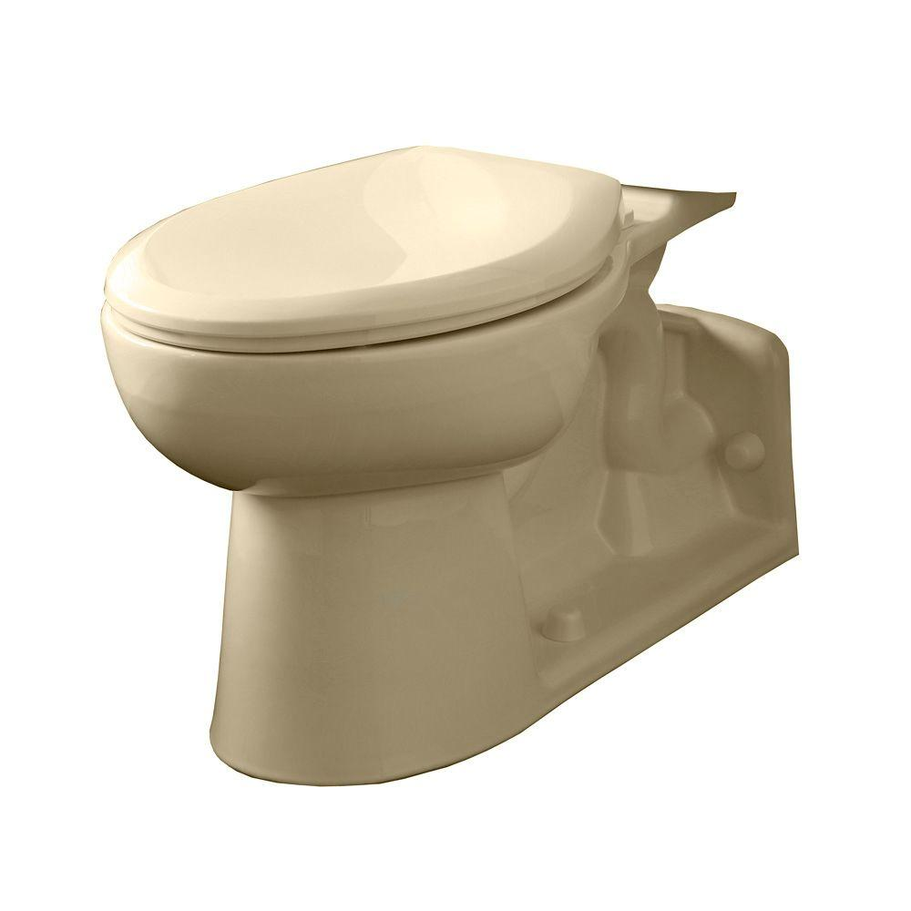American Standard Yorkville Pressure-Assisted 1.1 GPF or 1.6 GPF Elongated Toilet Bowl Only in Bone (Ivory)