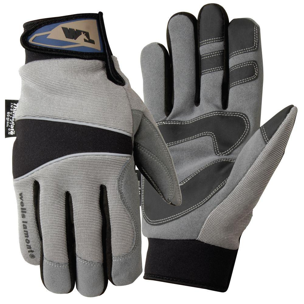 Wells Lamont Synthetic Leather Glove, Medium-DISCONTINUED