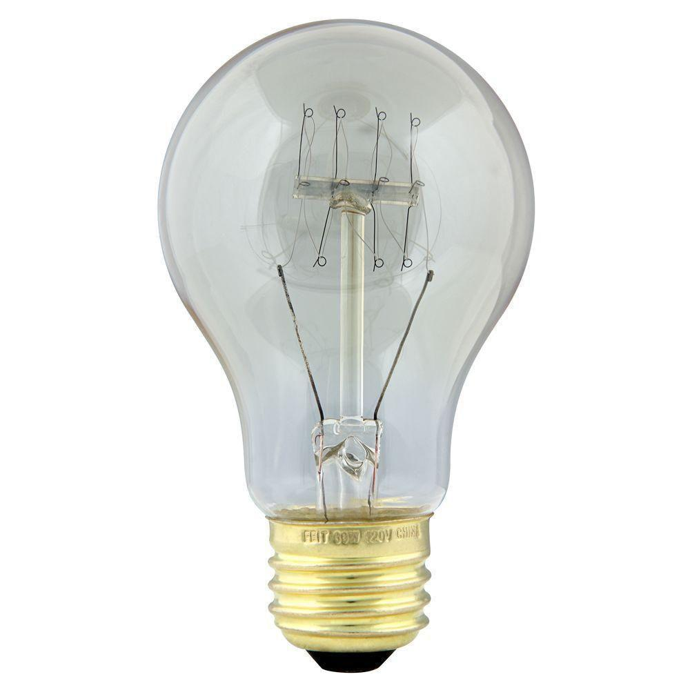 Feit Electric Original Vintage Style 60-Watt Incandescent AT19 Vintage Style Light Bulb (24-Pack)