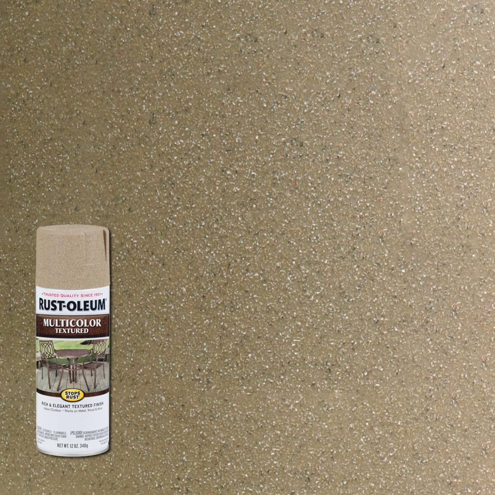 Rust Oleum Stops Rust 12 Oz Protective Enamel Multi Colored Textured Desert Bisque Spray Paint