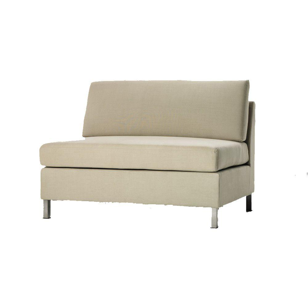 Home Decorators Collection Laurel 47 in. W Beige Sectional Pieces Loveseat