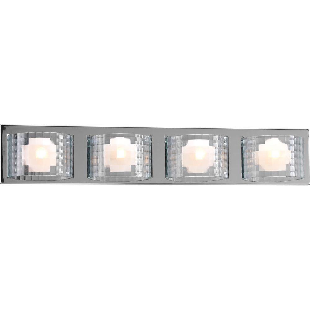Progress Lighting Cliche Collection 4-Light Chrome Bath Light-P2826-15WB - The
