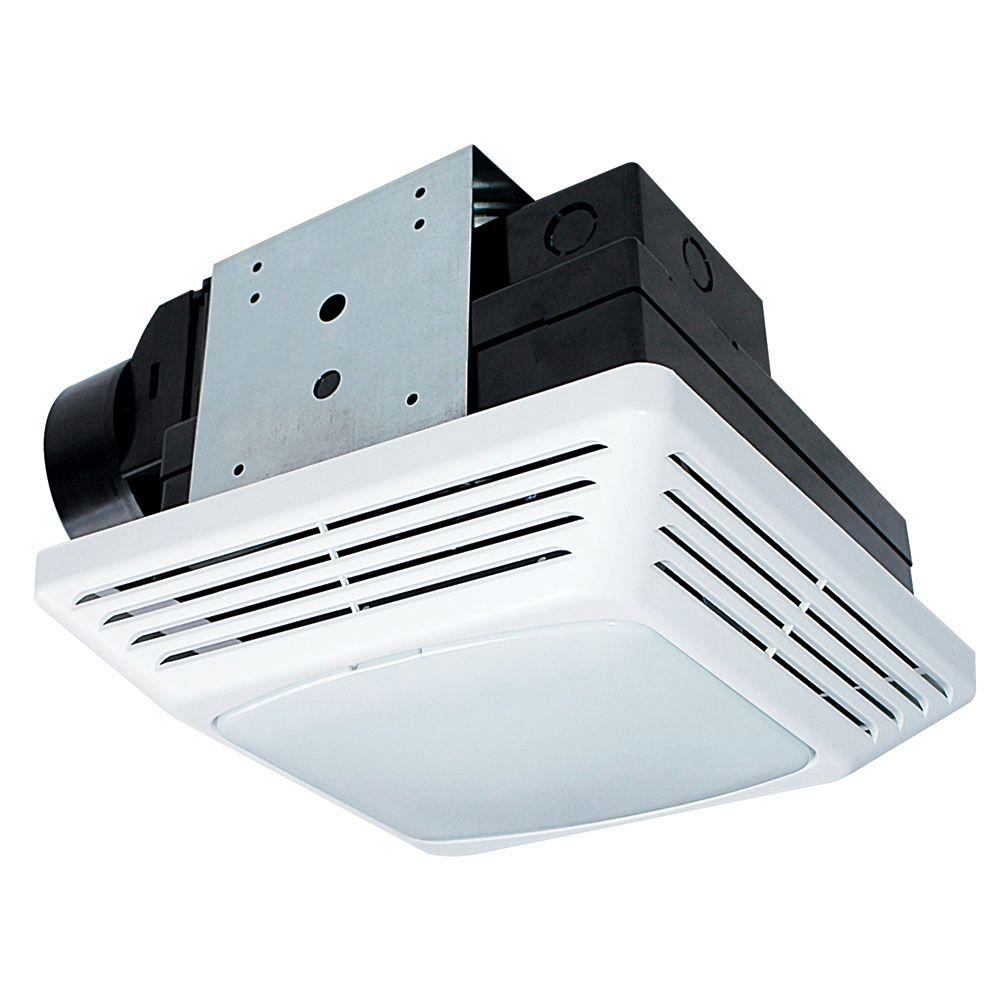 Air King High Performance 50 CFM Ceiling Exhaust Bath Fan With Light, ENERGY STAR-BFQF50