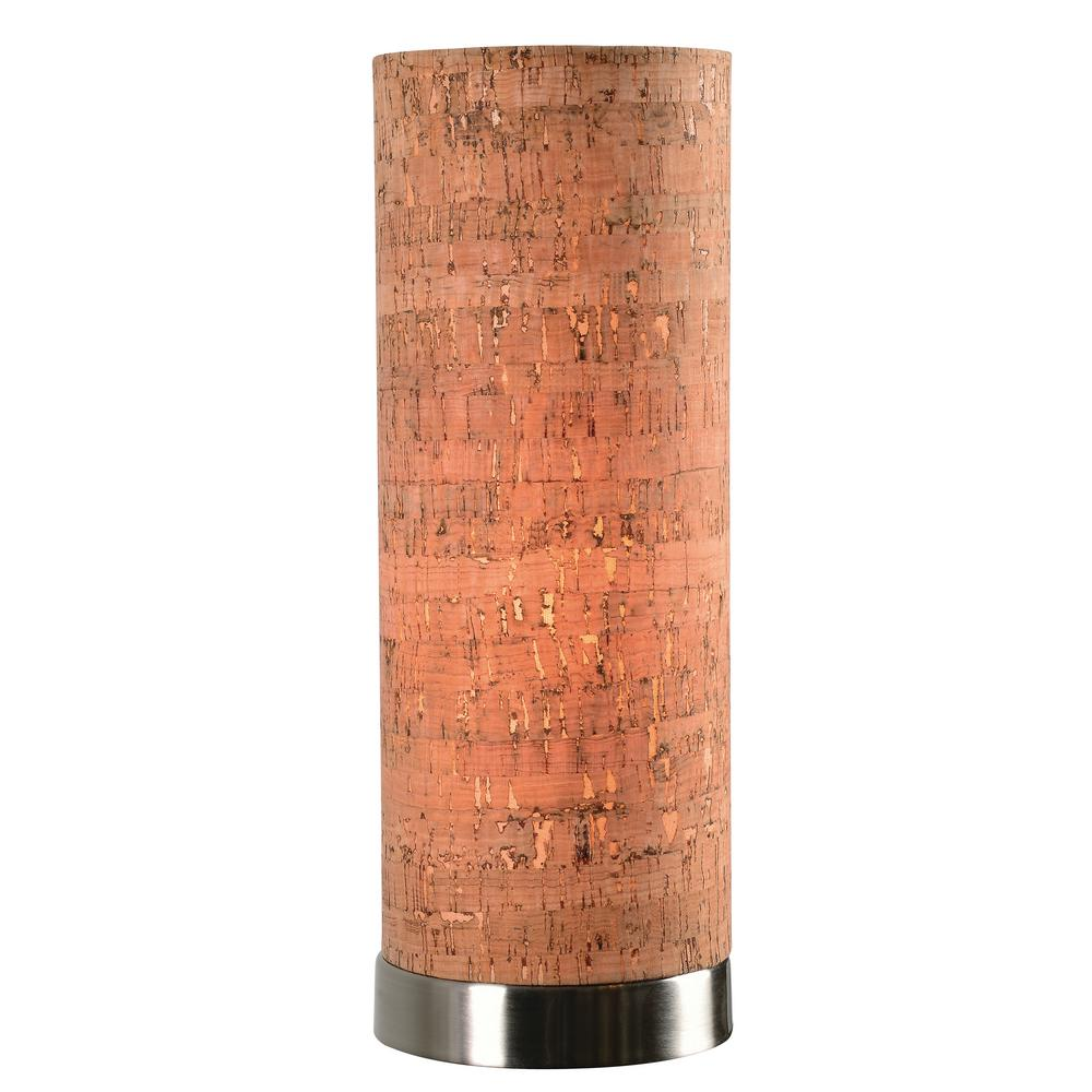 Bulletin 12 in. Steel Indoor Accent Lamp with Cork Shade