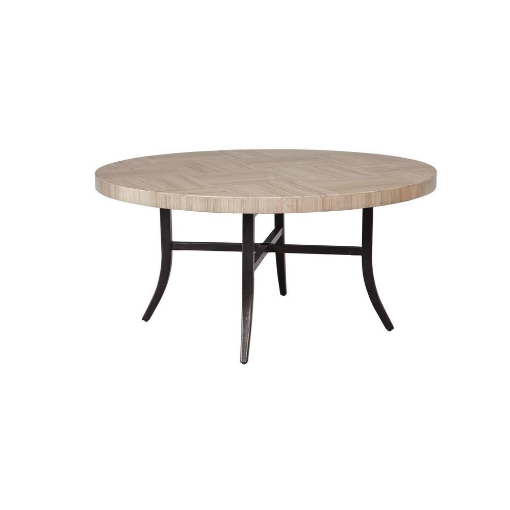 Greystone Patio Dining Table with Umbrella Hole -- STOCK
