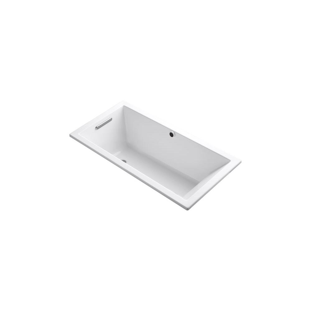Underscore 5 ft. End Drain Soaking Tub in White