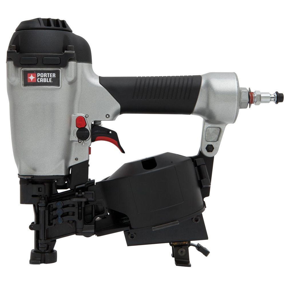 porter cable 15 degree 1 34 in coil roofing nailer rn175b the home depot