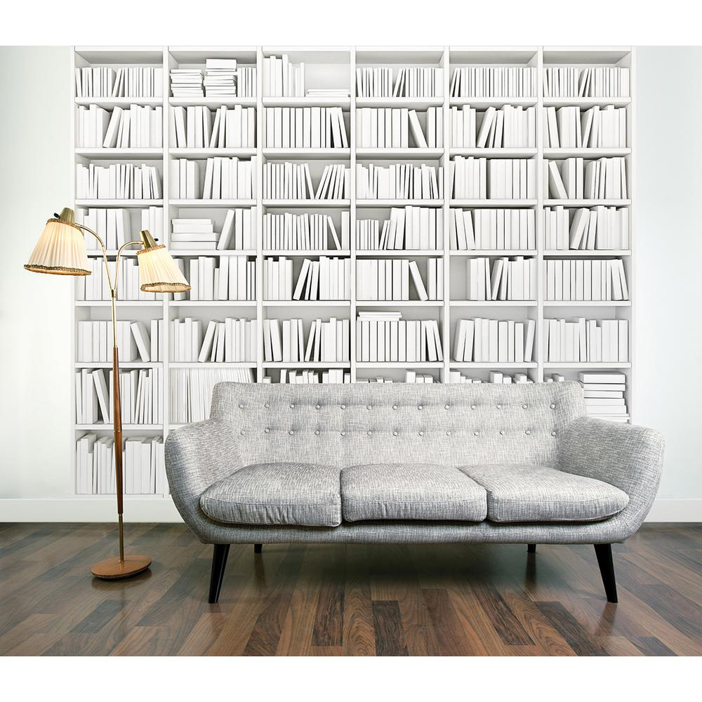 Brewster 118 in x 98 in library wall mural wals0016 for Brewster wall mural