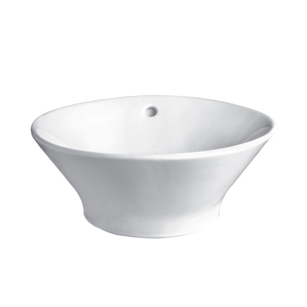 DECOLAV Classically Redefined Vessel Sink in White-1435-CWH - The Home Depot