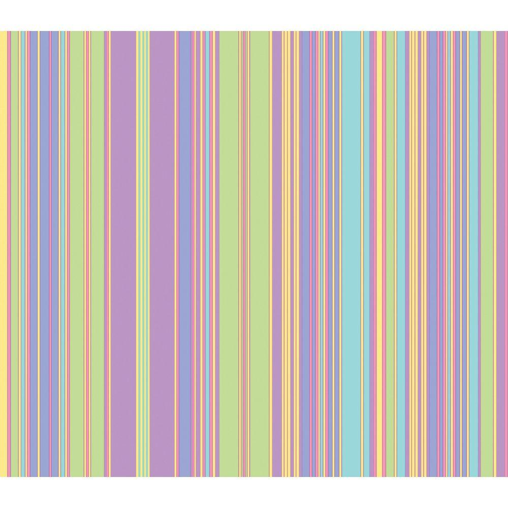 The Wallpaper Company 8 in. x 10 in. Pastel Barcode Stripe Wallpaper Sample