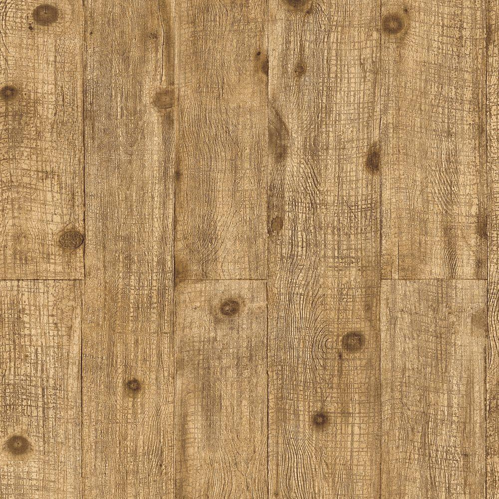 The Wallpaper Company 8 in. x 10 in. Light Brown Wood with Knots Wallpaper Sample