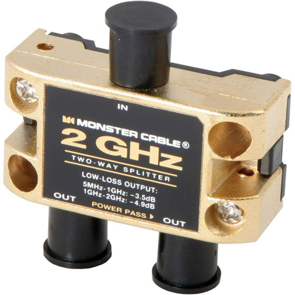 Monster Cable 2GHz Low-Loss RF Splitters For TV And Satellite MKII - 2-Way-DISCONTINUED