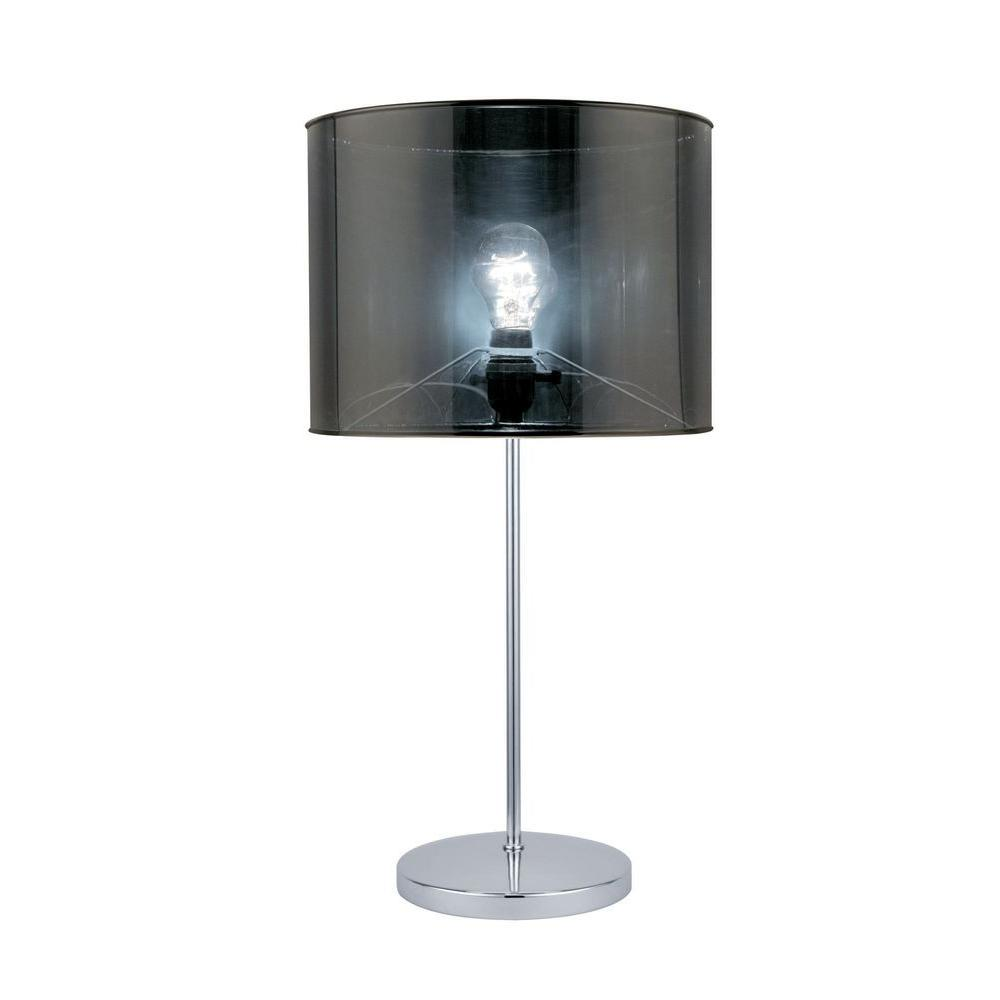 23 in. Chrome Table Lamp with Translucent Vinyl