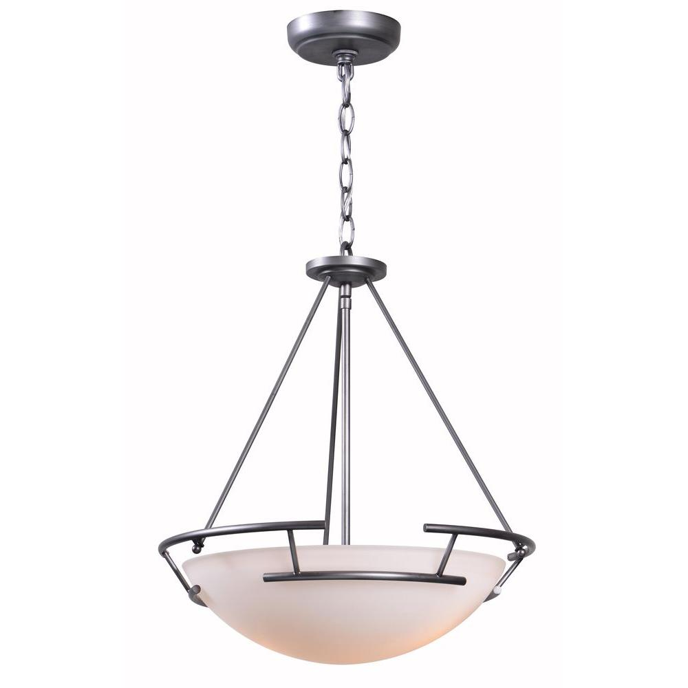 World Imports Ava Collection 2-Light Brushed Nickel Indoor Pendant-WI 70802-37 -