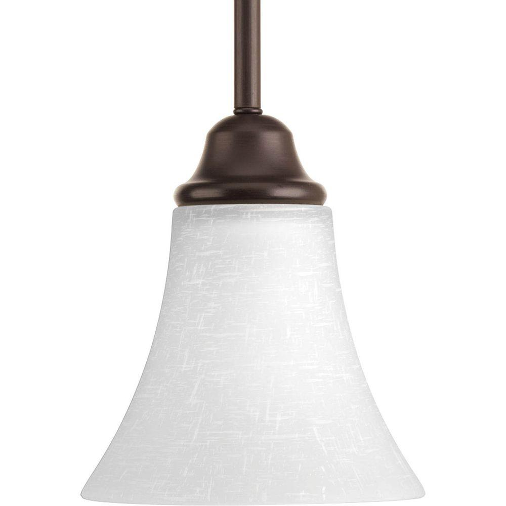 Millennium Lighting 1 Light Rubbed Bronze Mini Pendant With Etched White Glas
