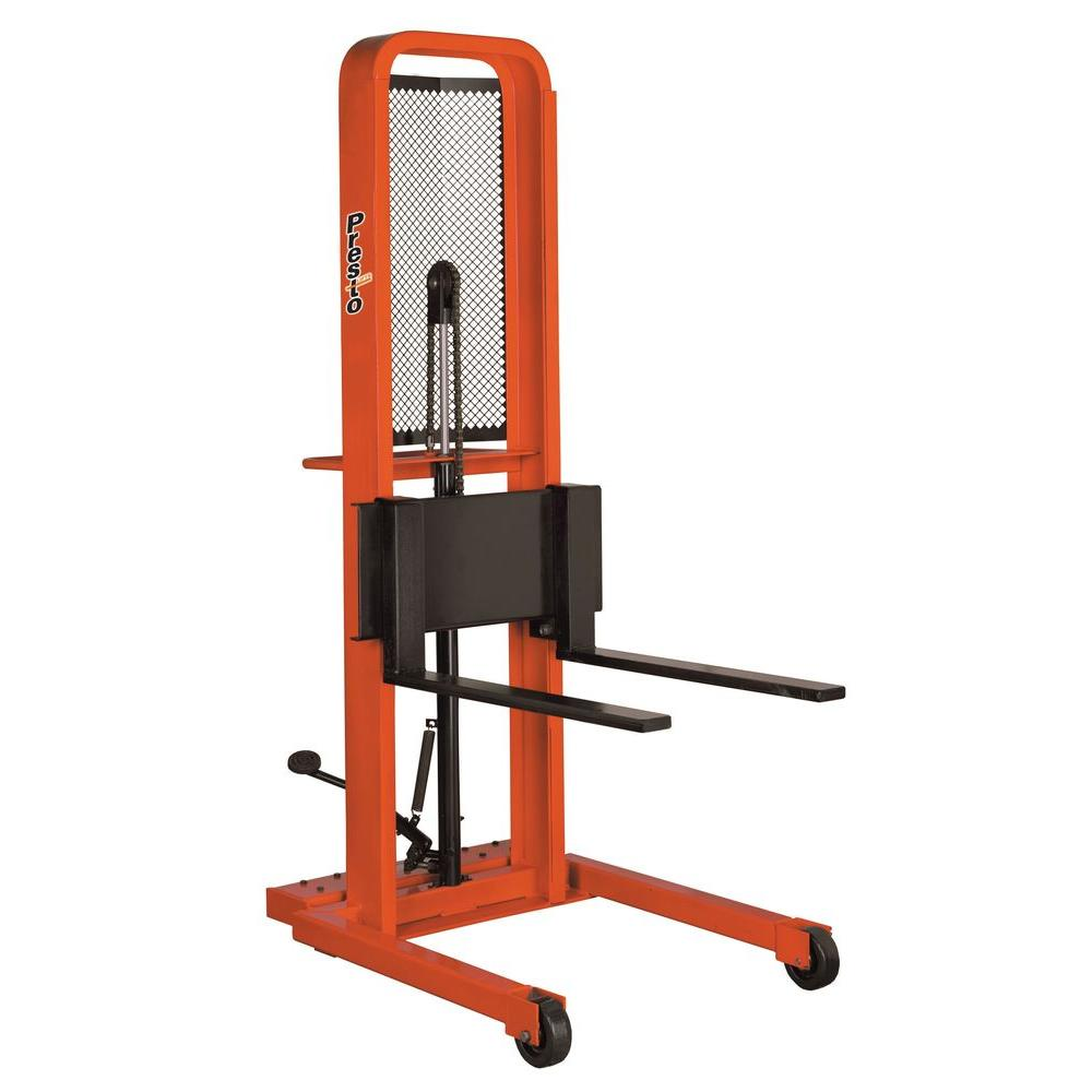 Presto Lifts 1000 lb. Foot Operated Stacker - Fork Model-M452 -