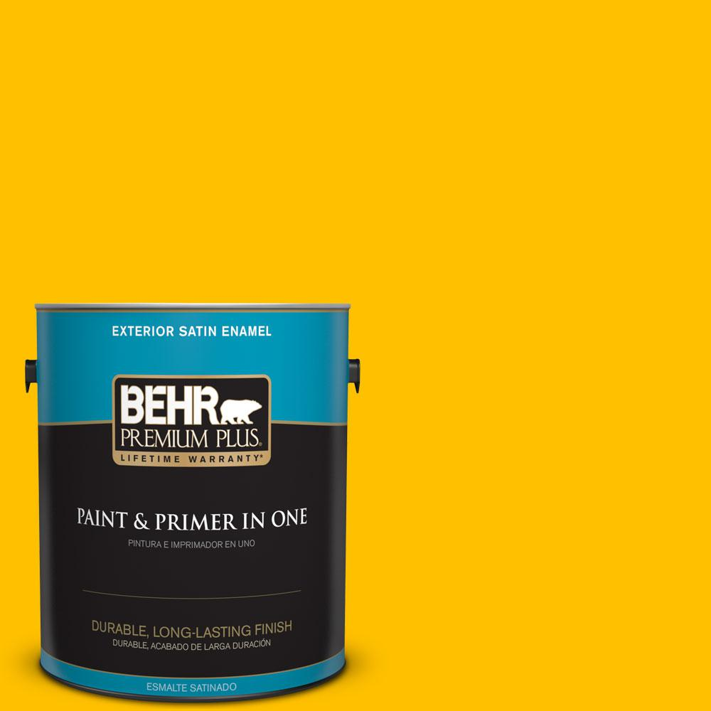 1-gal. #360B-7 Center Stage Satin Enamel Exterior Paint