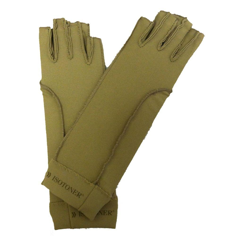 null Totes Isotoner Therapeutic Open-Finger Gloves in Medium