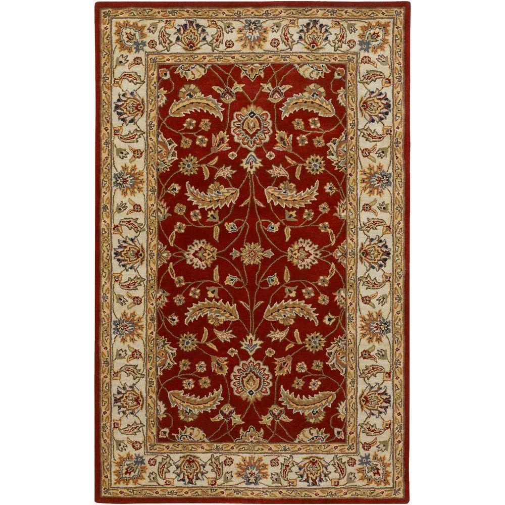 John Red 6 ft. x 6 ft. Square Area Rug