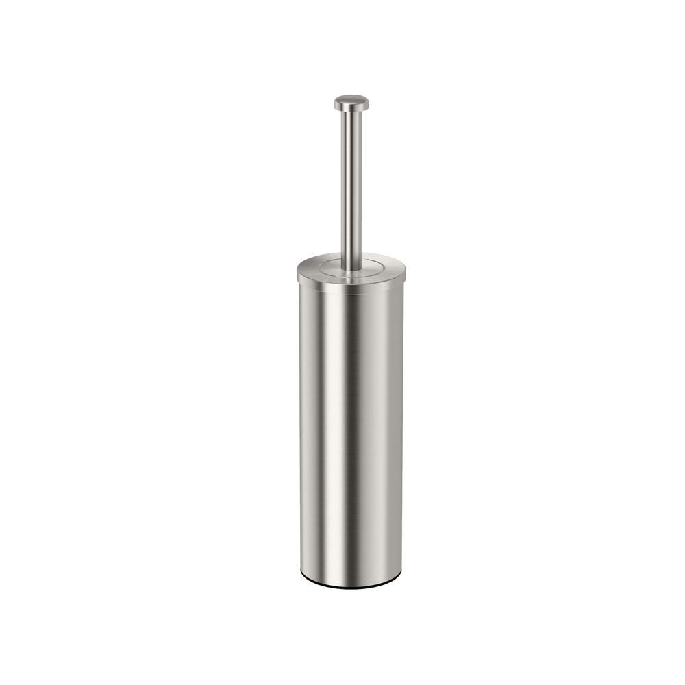 UPC 011296148208 product image for Gatco Latitude II 3.2 in. W Round Toilet Brush Holder in Satin Nickel | upcitemdb.com