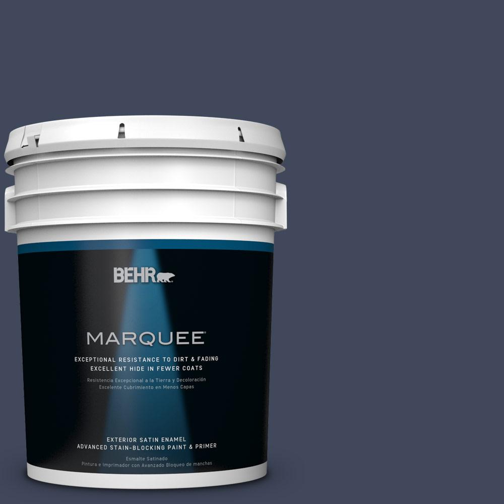 5-gal. #S530-7 Dark Navy Satin Enamel Exterior Paint