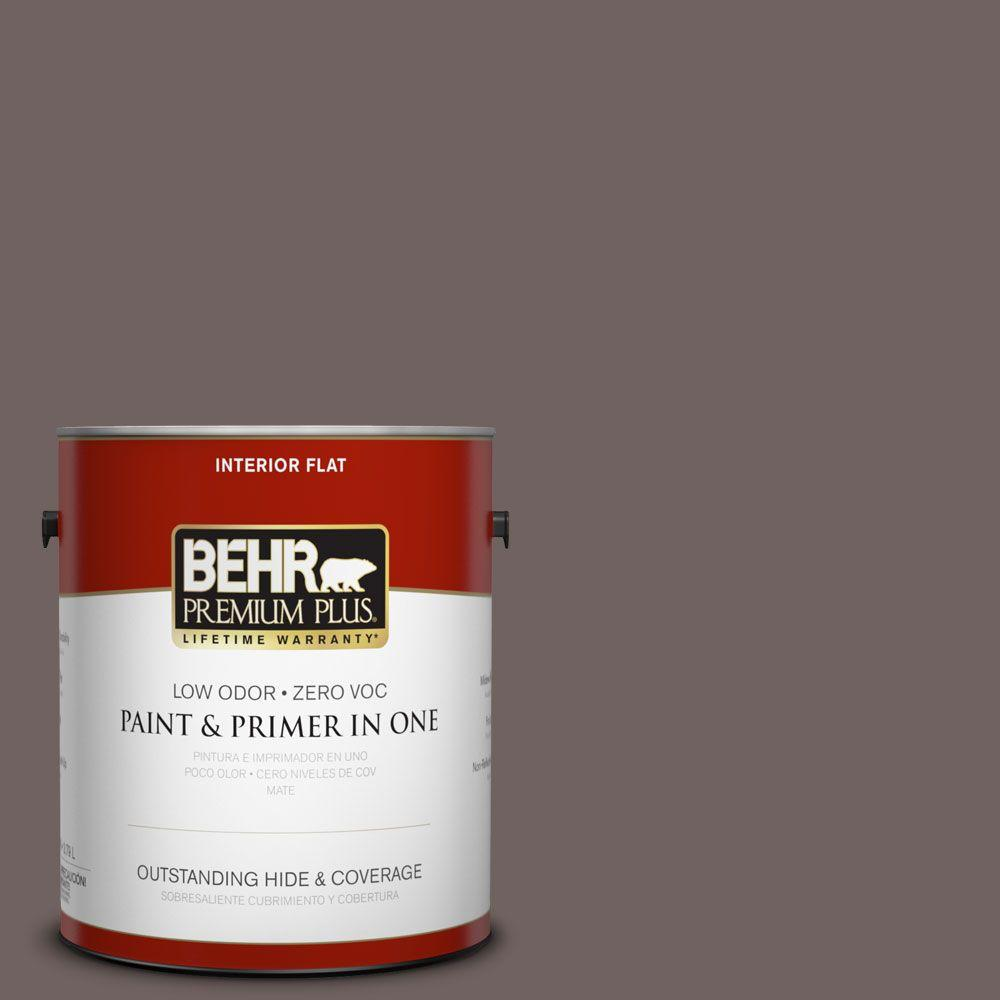 1-gal. #N140-6 Wright Brown Flat Interior Paint