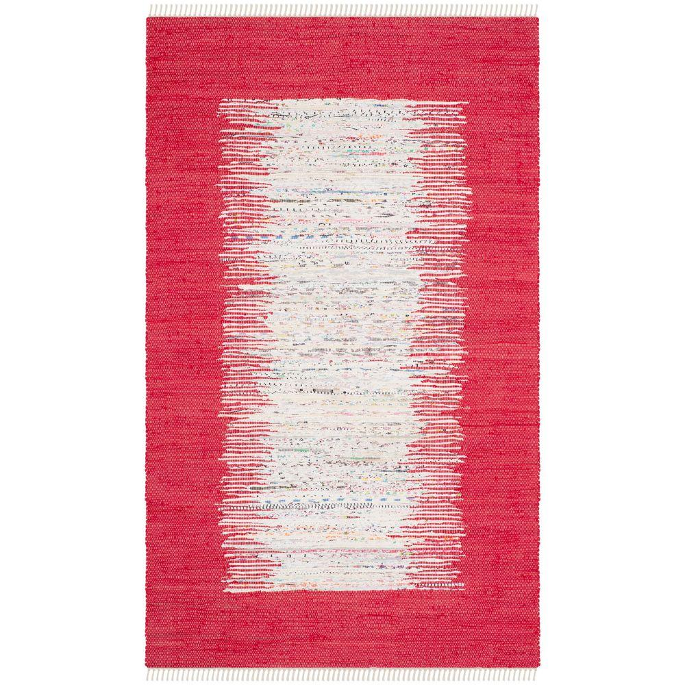Montauk Ivory/Red 4 ft. x 6 ft. Area Rug