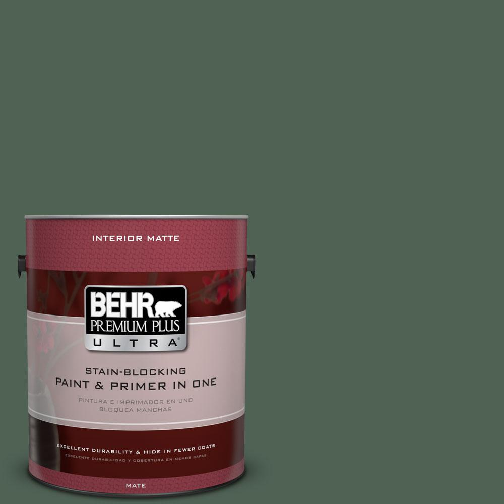 1 gal. #BXC-60 Pasture Green Matte Interior Paint