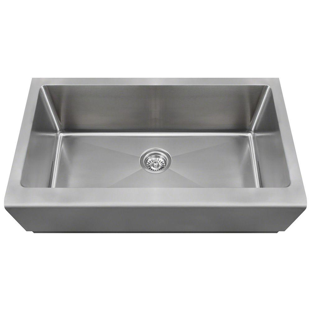 Farmhouse Apron Front Stainless Steel 33 in. Single Basin Kitchen Sink